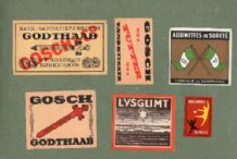 OLD DENMARK match box labels  large & normal size #201